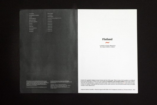 """Borders"" ""Karel Martens"" ""Isia Urbino"" ""Flatland"" ""Dimensions"" ""Editorial"" ""Limit"""